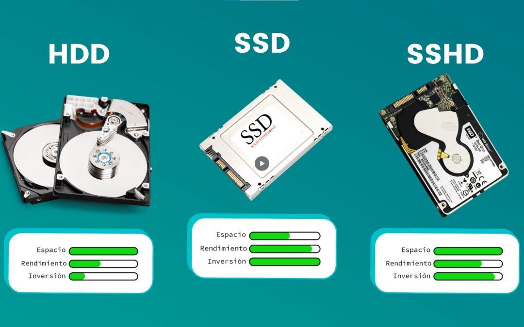 Diferencias entre SSD, HDD Y SSHD